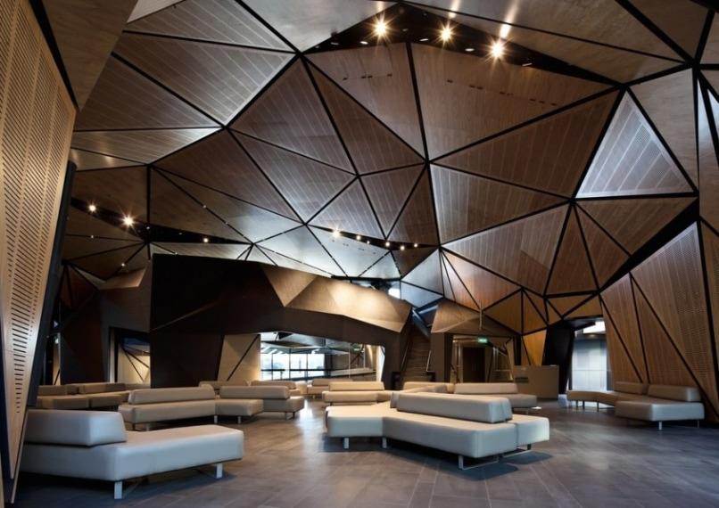 Ambienti accoglienti e atmosfere rilassanti per il nuovo terminal dell'aeroporto di Wellington.