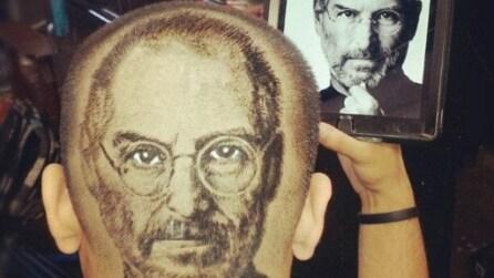 Crea ritratti sulla testa dei clienti: il barbiere-artista