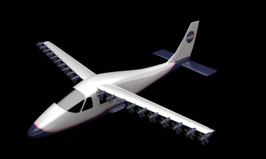 Il velivolo testato in questi mesi dalla NASA si chiama LEAPtech: lungo 9,4 metri è sospinto da 18 motori elettrici.