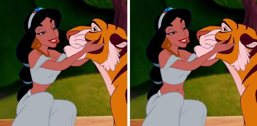 La fidanzata di Aladdin dopo aver partorito il loro primogenito.