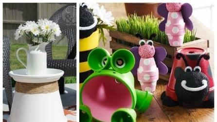 Come arredare casa e giardino con banali vasi di terracotta