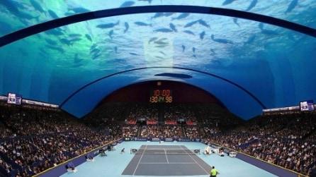 Tennis sott'acqua: l'ultima incredibile idea arriva da Dubai