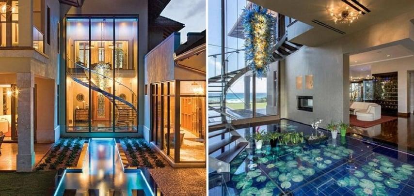 La casa è l'ultima opera di Frank Mckinney, famoso artista specializzato nel creare case di lusso.