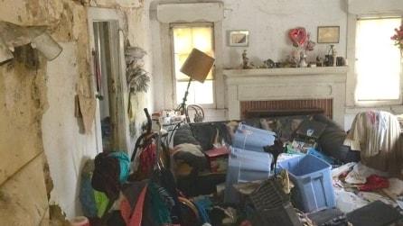 Una casa piena di spazzatura: ecco la scioccante trasformazione