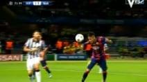 Juventus-Barcellona, annullato il gol a Neymar per fallo di mano