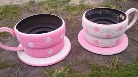 Quello che riesce a realizzare con dei vecchi pneumatici vi lascerà di stucco
