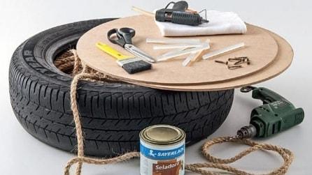 Ricicla un vecchio pneumatico realizzando qualcosa di fantastico
