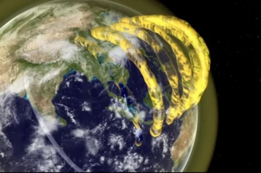 Tubi di gas al di sopra dell'atmosfera della Terra. ( Foto: CAASTRO)