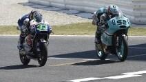 Moto3, Kent vince in volata su Bastianini