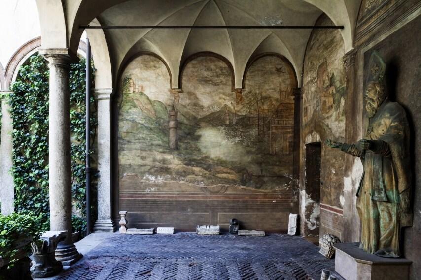Cortile degli Affreschi - Foto Filippo Romano