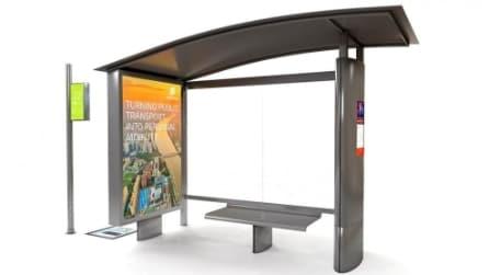 Ericsson presenta una fermata bus 2.0 con WiFi e schermi interattivi
