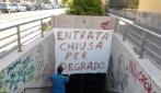 """Il sottopasso Claudio """"chiuso"""" (dai residenti) per degrado"""