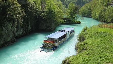 Il fiume color smeraldo che nasce in Slovenia