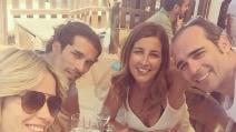 Elena Santarelli e Bernardo Corradi a Formentera