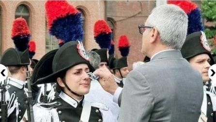 Chiara, la Carabiniera che piange al giuramento e commuove l'Italia