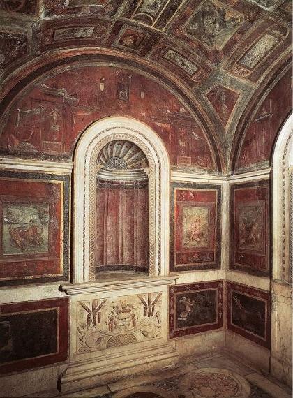 """La famosa """"Stufetta di Bibiena"""" è il bagno privato presente negli appartamenti papali dipinto da Raffaello nel 1516. Sulle pareti il famoso artista aveva riportato immagini di satiri che ansimano sulle ninfe e altre scene a sfondo sessuale, in seguito censurati o danneggiati."""