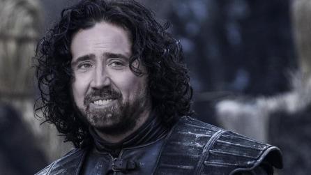 """""""Cage of Thrones"""": il cast de """"Il Trono di Spade"""" con la faccia di Nicolas Cage"""