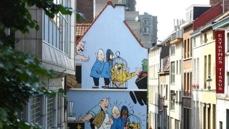 Benvenuti nella Via dei Fumetti di Bruxelles