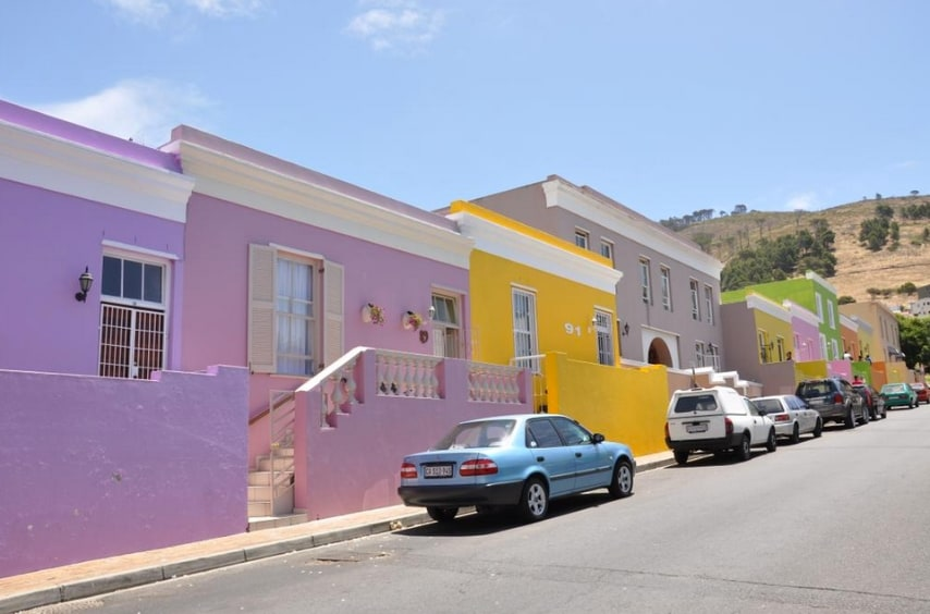 Le bellissime case colorate a Bo Kaap