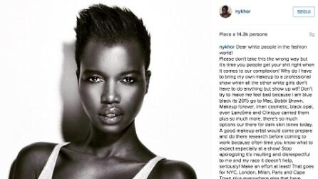 Nykhor Paul, la modella che accusa la moda di essere razzista