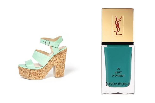 Smalto: Yves Saint Laurent - La Laque Couture (Vert d'Orient) Scarpa: Ouigal