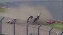 Moto3 Sachsenring, l'incidente di Ana Carrasco e Maria Herrera