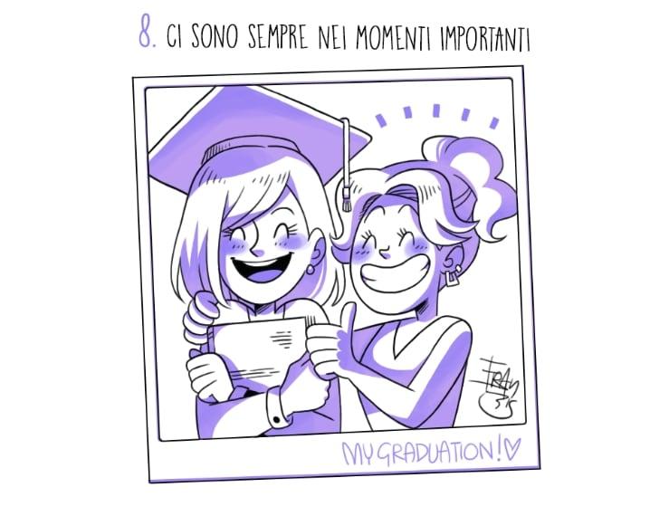 Una sorella è anche la propria migliore amica e c'è sempre nei momenti importanti della vita. Dal diploma alla laurea, fino ad arrivare al matrimonio è una presenza costante.