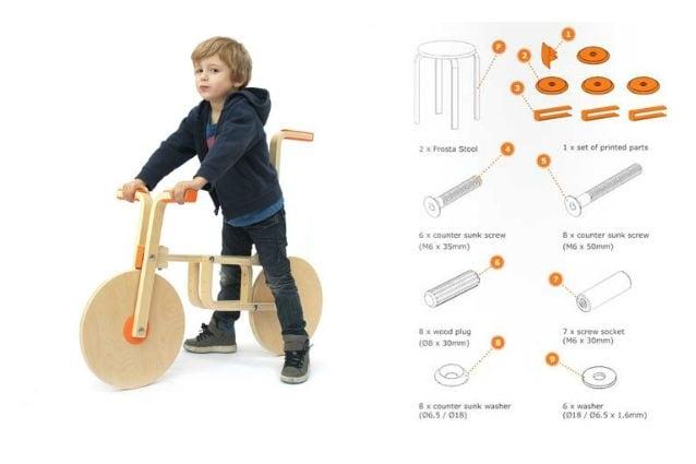 Draisienne: come trasformare uno sgabello ikea in una bicicletta