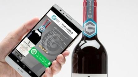 Guerra alla contraffazione: ecco la bottiglia di vino intelligente