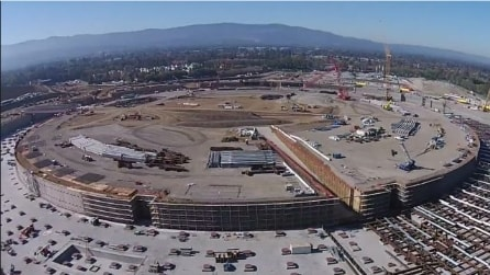 Apple Campus 2: l'astronave prende forma