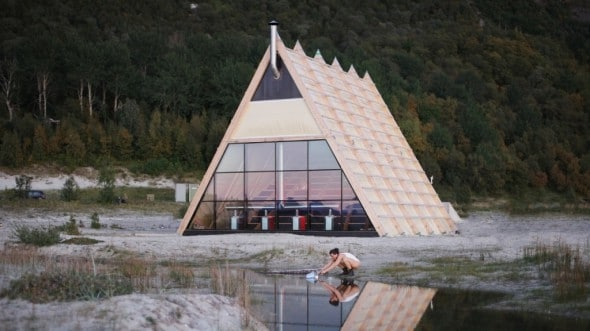 Un divertente modo per riscaldarsi nel rigido clima norvegese.