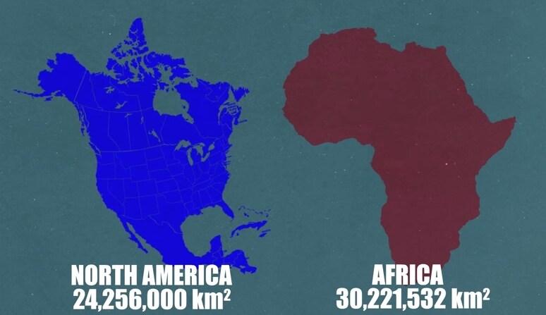 Con i suoi 30 milioni di Km quadrati rispetto ai 24 del Nord America.