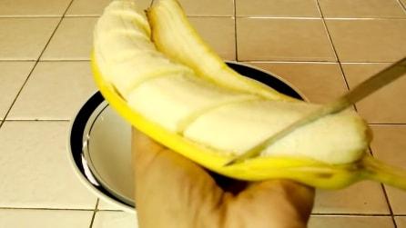 Taglia la banana a pezzi e quello che realizza è sorprendente