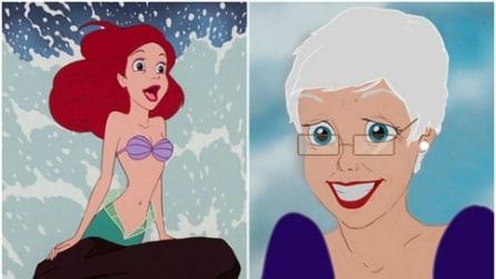 E se le principesse Disney fossero anziane? Ecco come le ritroviamo