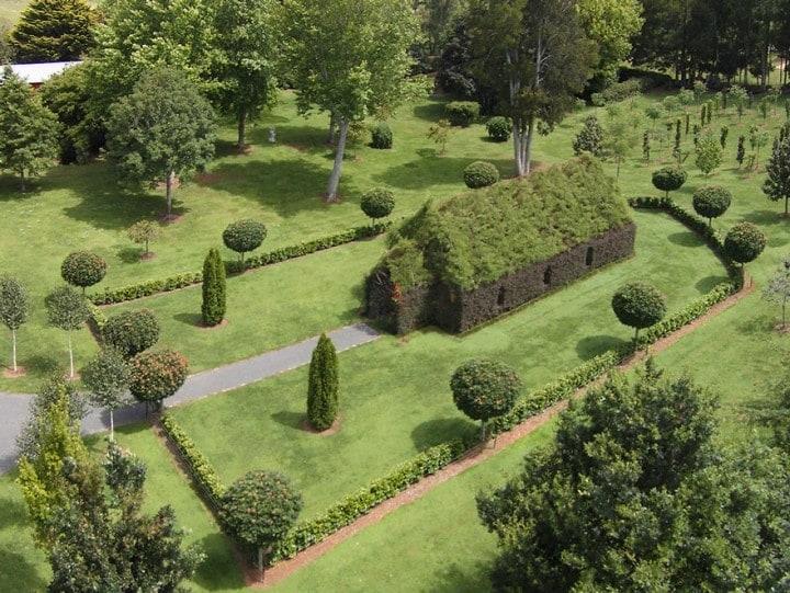 Ha selezionato con cura tra una grande varietà di alberi quelli più adatti alla realizzazione della sua incredibile chiesa.