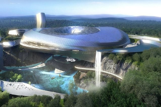 Il Dawang Mountain Resort sorgerà nei pressi della città di Changsha, in Cina. Il progetto combina un Ice World per intrattenimento con una pista da sci coperta, un parco acquatico con negozi e ristoranti per una superficie complessiva di 150.000 metri quadrati.