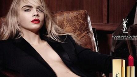 Cara Delevingne posa nuda per la pubblicità di YSL