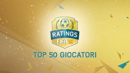 FIFA 16, la top 50: ecco i migliori giocatori