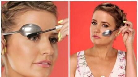 Poggia un cucchiaio sul viso: i perfetti trucchi di bellezza che vi sorprenderanno