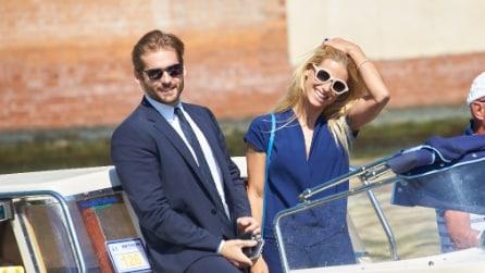 Michelle Hunziker e Tomaso Trussardi al Festival di Venezia 2015