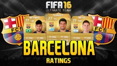 FIFA 16, le valutazioni del Barcellona: chi ci sarà dietro al fenomeno Messi?
