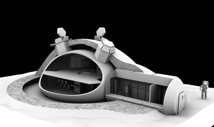 Si prevede che i lavori dureranno tre mesi per realizzare una struttura adatta ad accogliere quattro astronauti.