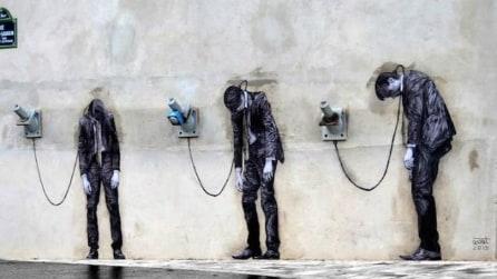 La street art interattiva di Levalet