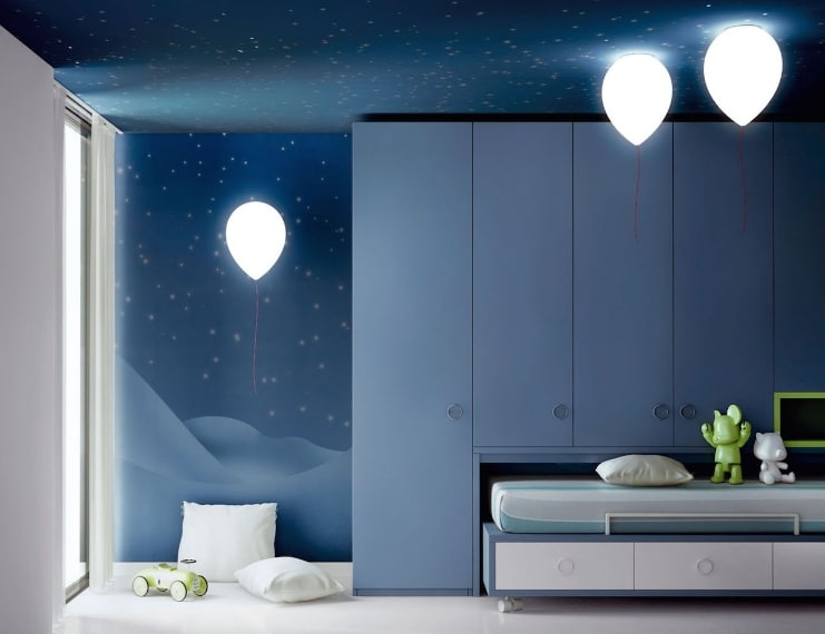 Le Balloon Lamp trasformeranno il vostro soffitto in un celo di palloncini luminosi.