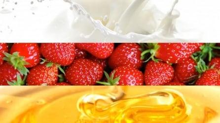 Latte, fragole e miele: il mix che vi farà impazzire