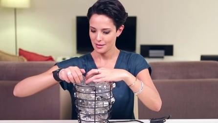 Ecco un modo davvero originale di riciclare tante vecchie lampadine