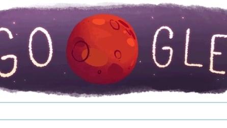 """Acqua su Marte, Google dedica il """"doodle"""" alla fantastica scoperta"""