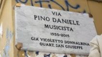 A Napoli inaugurata strada dedicata a Pino Daniele