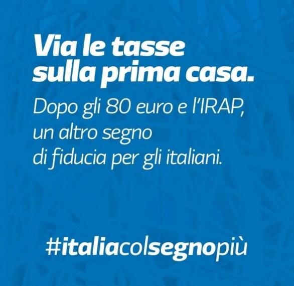 Eliminata la Tasi sulla prima casa, stop anche all'Imu sulle abitazioni di lusso. Una misura che vale circa 3,5 miliardi di euro.