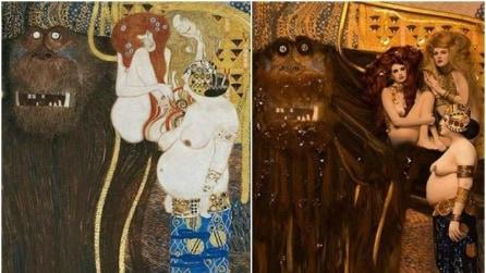 I dipinti più famosi di Klimt diventano reali